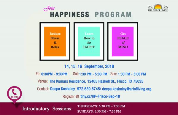 happiness program sudarshan kriya by art of living foundation