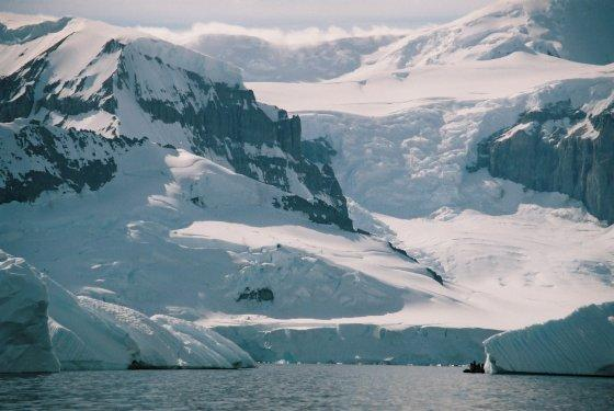 LN1059 1i3019958 This is Antarctica note the Zodiac lower right Antarctica